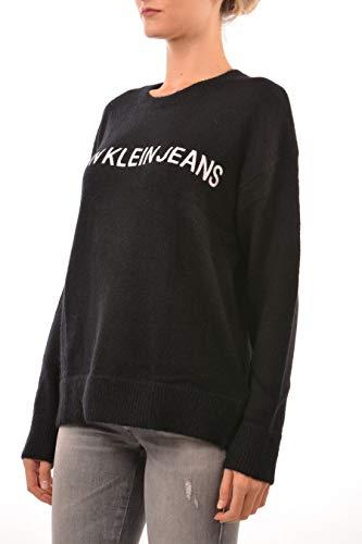 Maglione Maglione Maglione Over Over Over Over Jeans Nero Calvin Size J20J208993 Donna Inverno Autunno Klein E5FxqxBf