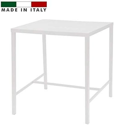 Tavoli Da Esterno Per Ristorante Usati.Rd Italia Tavolo Alto H 105 Misure 120x80 In Metallo Bianco Per