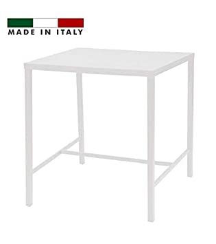 Table Haute h.105 Plateau 120x80 Metal Blanc Plein AIR ...