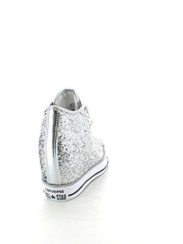 Converse - Converse Lux Mid Scarpe Da Donna Argento Glitter 552698c Argento