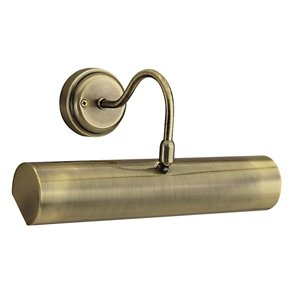 Searchlight Antique Brass Finish Picture Light with Switched Pull Cord, 869AB