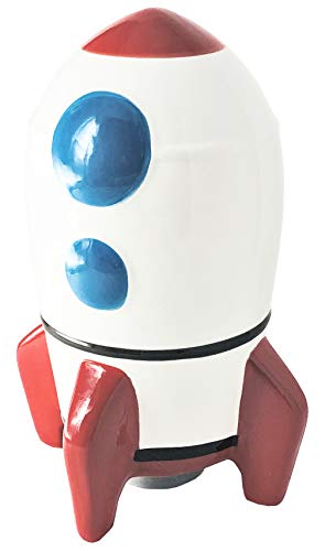 Hapinest Ceramic Piggy Bank for Boys, Rocket