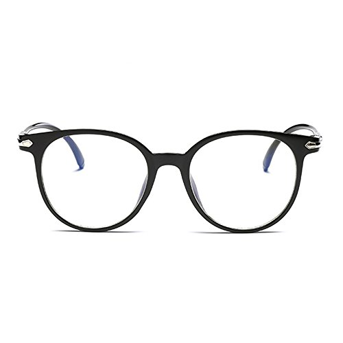 Unisex Wayfarer Non-prescription Glasses Frame Clear Lens Eyeglasses (black)