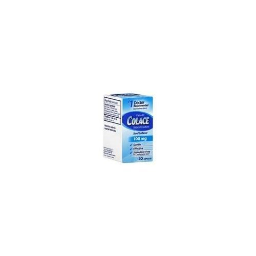 Colace Docusate Sodium Stool Softener Capsules 100 mg - 30 capsules