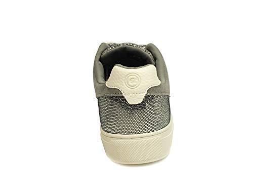 Colmar Daim Bradbury Gris Femme Chaussures Lux Sneakers Paillettes Lacets r0nqdxr