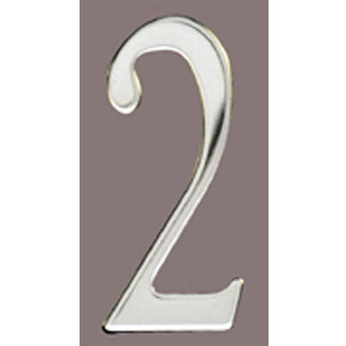 Special Lite Products SS3-Number 2 Stainless Steel Self Adhesive Address Number 2 2, 3''