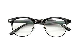 Amazon.com: Malcolm X Horn Rimmed Glasses Frames Black
