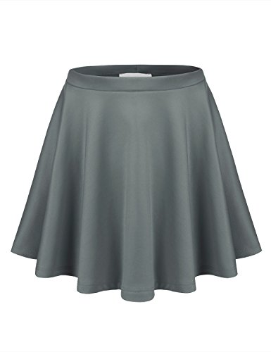 BIADANI Women Basic Flared Versatile Stretch Skater Skirt