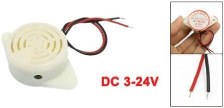 sourcing map DC 3-24V deux Cables buzzer Son continu Avertisseur Sonore /électronique 90dB