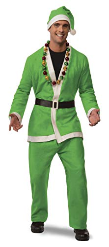 Rubie's Men's Clausplay Neon Green Santa Suit, Green, Standard -
