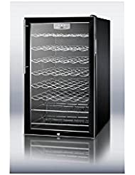 Summit SWC525L7HVADA Wine Chiller Beverage Refrigerator, Glass/Black