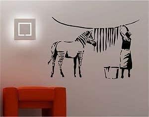 Online Design Estilo Banksy Cebra Lavadora Pegatina Adhesiva ...