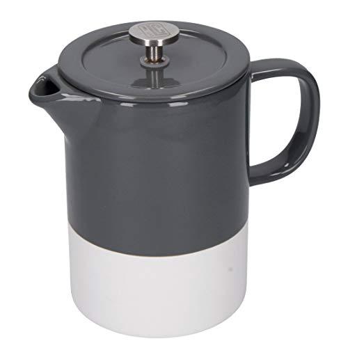 La Cafetière – Barcelona – Cafetera de cerámica, presa Francesa, cerámica, gris, 8 Cup (1 Litre)