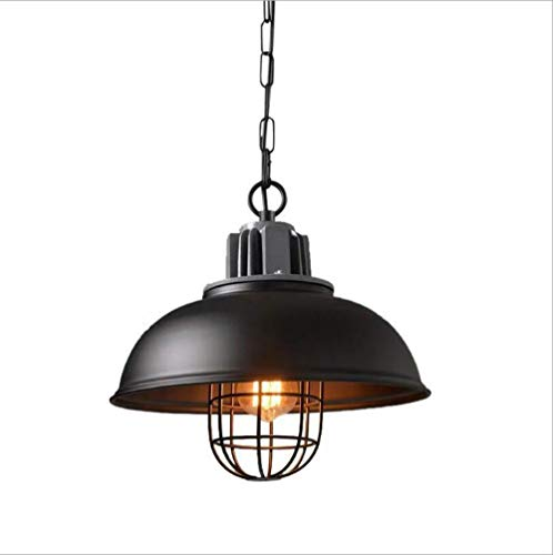 Retro Cage Pendant Light Industrial Wire Pendant Light Black Wrought Iron Hanging Lamp for Kitchen Island Bedroom Loft Porch Bar Shop