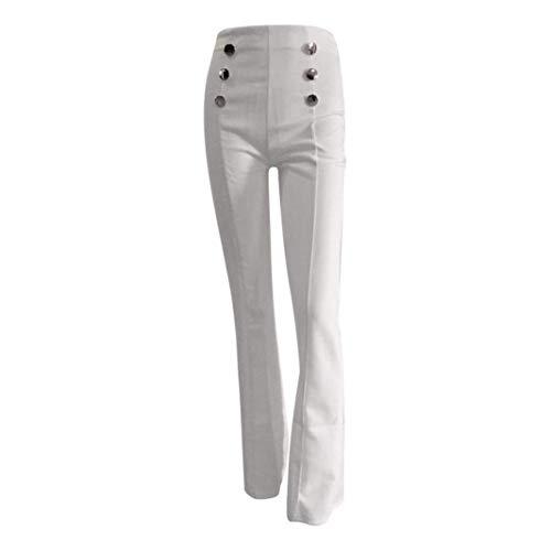 femme pour blanc blanc l taille et couleur long taille évasé Zhrui haute Pantalon XnqZwxY7RA