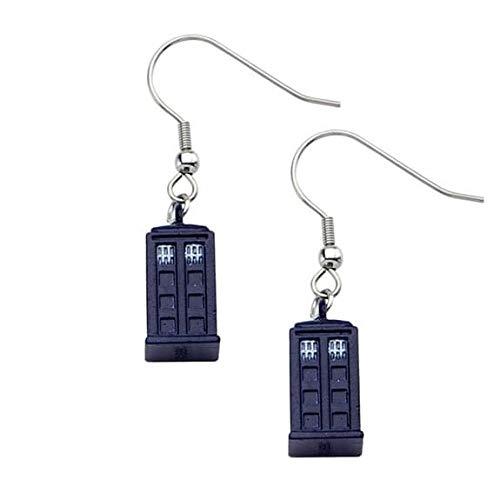 Doctor Who TARDIS Dangle Earrings ()