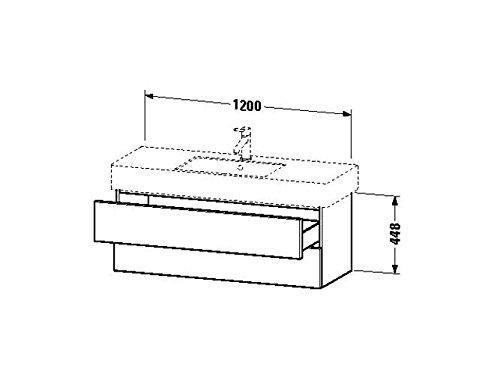 Duravit Waschtischunterschrank wandh. Delos 470x1200x448mm 2 SchKa, für 032912, eiche gebürstet, DL6