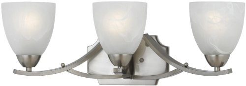 (Triarch 33290/3 3 Light Value Bathroom Light, Satin Nickel)