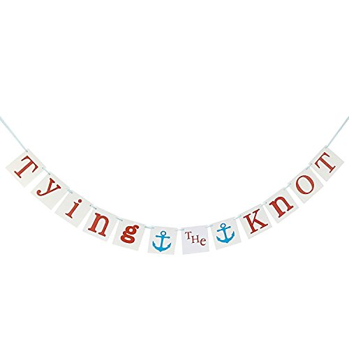 Anchor Tying The Knot Banner Sign - Bridal Shower Party Decorations -Wedding Garland Photo Props