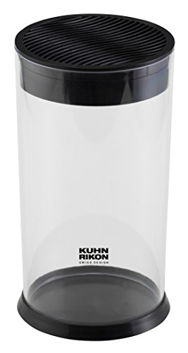 (Kuhn Rikon Vision Clear Slotted Easy-to-Clean Knife Stand/Block, Circular)