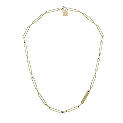Zag Bijoux Collier maillon Rectangle (doré)