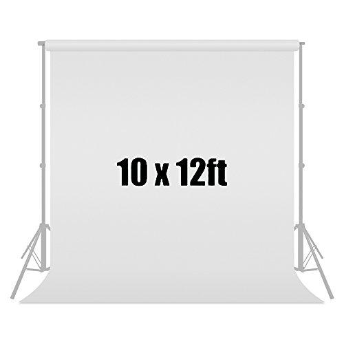Julius Studio 10 ft X 12 ft White Chromakey Photo Video Photography Studio Fabric Backdrop Background Screen, JSAG121 by Julius Studio