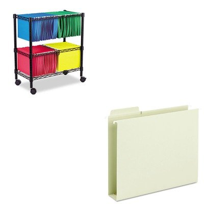 KITALEFW601426BLSMD64201 - Value Kit - Smead Box Bottom Hanging Folders (SMD64201) and Best Two-Tier Rolling File Cart (ALEFW601426BL) by Smead