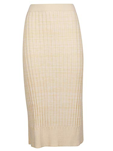 - Jil Sander Women's Jnwm7573cjmy2401d102 Beige Cotton Skirt