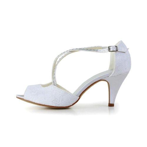 Jia 594948 pour Escarpins de mariage mariée Blanc femme Jia Wedding chaussures qCFEwq7d