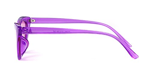 Gafas retro sol sol Púrpura Cobain vintage de ojo Gafas Kurt mujeres de de de para Púrpura Lente estilo gafas Transparente Marco protección 1 niñas gato ADEWU de aBTq6RWnn