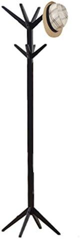 Jia He コートラック ソリッドウッドコートラックフロアハンガーベッドルームハンガーシンプルなリビングルーム玄関シンプルなモダンな洋服ラック高さ-175cm @@