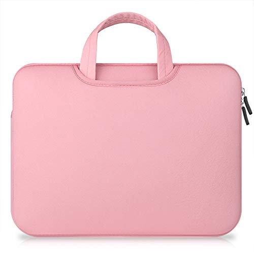 """Price comparison product image Laptop Sleeve Case for Women, Miya 5-15.4 inch Protective Bag for 15"""" MacBook Air Ultrabook Notebook Carrying Case Handbag for 15""""-15.4"""" ASUS Acer Lenovo Dell HP Toshiba Chromebook Computers - Pink"""