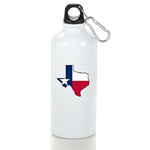 NO2XG Texas Flag Outline Clipart Vacuum Cup,Stainless Steel Space Cup,Handy Open Air Trip Teapot