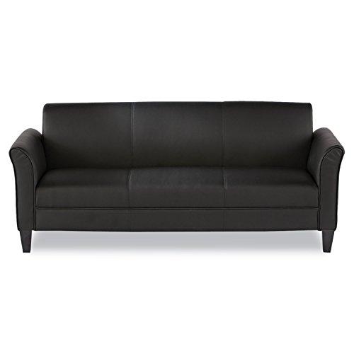 Alera RL21LS10B Reception Lounge Furniture, 3-Cushion Sofa, 77w X 31-1/2d X 32h, Black