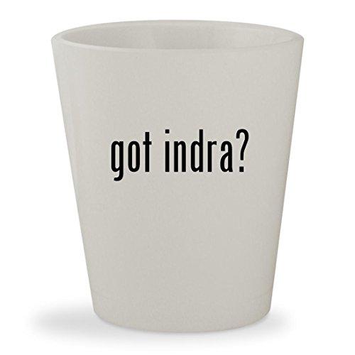 got indra? - White Ceramic 1.5oz Shot Glass