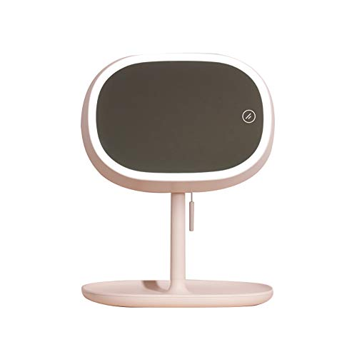 (Night Light Kekailu, Multifuntional LED Makeup Mirror with Rope Portable Compact Desk Reading Lamp - Pink)