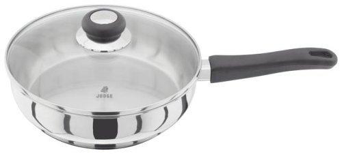 Judge JJ24 Sauté Pan with helper handle, Silver, 28 cm Horwood Homewares Cookware Saute Pans Vista