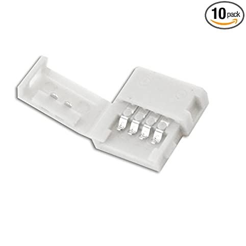 Amazon 10mm 5050 solderless led light strip connector 10mm 5050 solderless led light strip connector extension multi color rgb gapless aloadofball Image collections