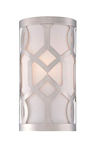 Crystorama 2262-PN Transitional One Light Wall Sconce from Libby for Crystorama:Jennings collection in Chrome, Pol. Nckl.finish, ()