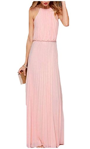 Alta Vestito Intera Coolred Maniche Figura Rosa Classe donne Di Solida Senza Vita BT60qwZ