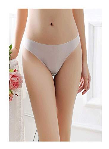 Justgoo Women's Sexy Sheer Panties Thongs Mesh G-Strings Low Rise Brief Underwear (G-string Sheer)