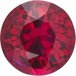 Faceted Ruby Gem, Round Shape, Grade AA, 4.50 mm in Size, 0.46 Carats