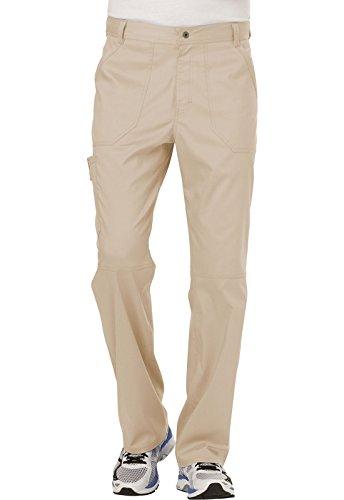 WW Revolution by Cherokee Men's Fly Front Pant, Khaki, Small Short (Shorts Khaki Cherokee)