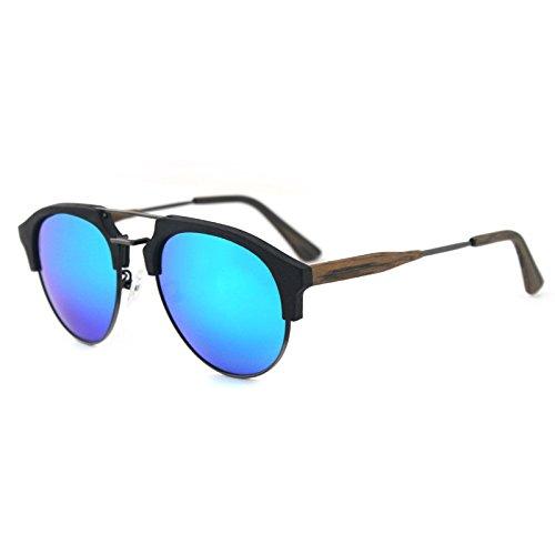 madera C99 de Gafas grano aire los ocio sol libre gafas de azul hombres viaje polarizadas de película verde de sol al Zhangxin C86 wYdXqUU