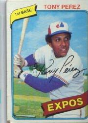 (1980 Topps Baseball Card #125 Tony Perez Mint)