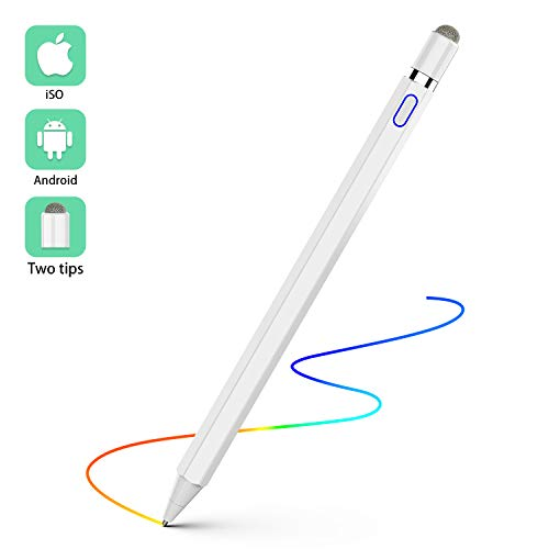 Active Stylus Digital Pen, CSHID-US 1.5mm Ultra Fine Tip Stylus Rechargeable Capacitive Drawing and Handwriting Pen for Touchscreen Devices Compatible for iPad iPhone Samsung Phone &Tablets (Ipad Slim Stylus Tip)