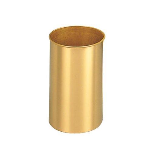 Glaro, Inc Glaro- 66BR -10 Inch Satin Brass Virginia Wastebaskets