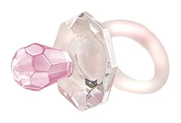 Fashioncraft Choice Crystal Pacifier, Pink