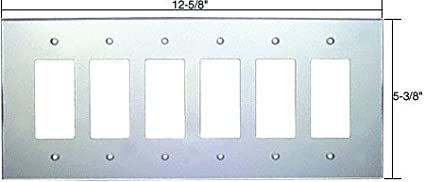 CRL Six Gang Decora Acrylic Mirror Plate - Clear C.R. Laurence PMP602