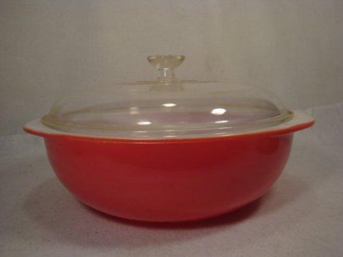 Vintage Pyrex (#024) Flamingo Pink Round Casserole Baking Dish Bowl (2 qt)